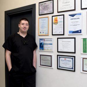 серификати на д-р Стоян Маринов